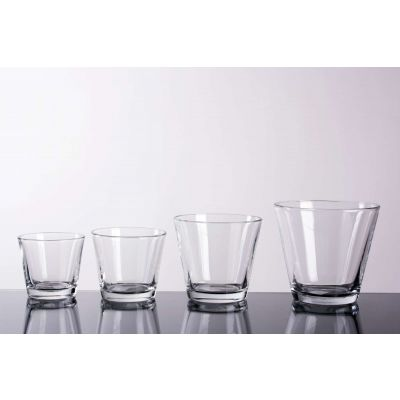 Glas konisch klar (6) D 12 H 11 cm 062314
