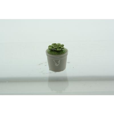Porzellan-Topf Kaktus 6, x 6 x 7,5 cm grün/weiss 082342