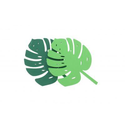 Schaum-Blatt grün 25 cm 084853