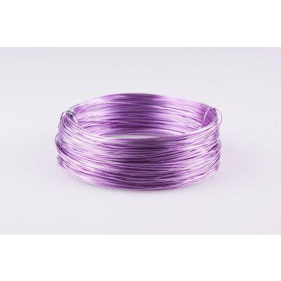 Aluminium-Draht 1mm lavendel 60 Meter 002112
