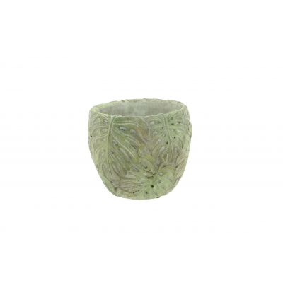 Zement-Topf 21 x 21 x 18,5 cm Monstera 103887