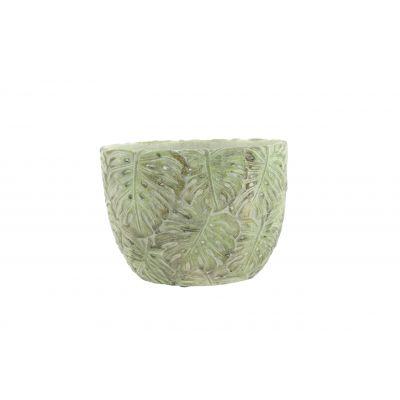 Zement-Topf 22 x 15 x 19 cm Monstera 103889