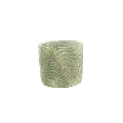 Zement-Topf 17,5 x 17,5 x 15,5 cm Farn 103897