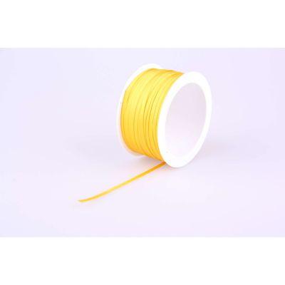 Deco-Bd. Doppelsatinband 03mm 50m, gelb 010750