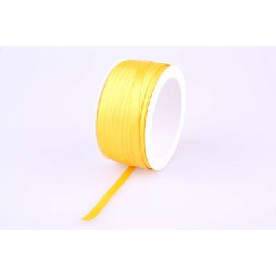 Deco-Bd. Doppelsatinband 06mm 50m, gelb 010767