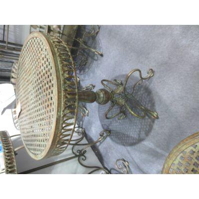 Metall-Tisch rund 46 x 46 x 71 cm rötlich-grün 109114