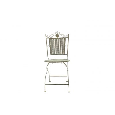 Metall-Stuhl 44 x 46 x 96 cm rötlich-grün 109115
