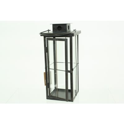Metall-Laterne 20 x 20 x 49,5 cm antik brass 111718