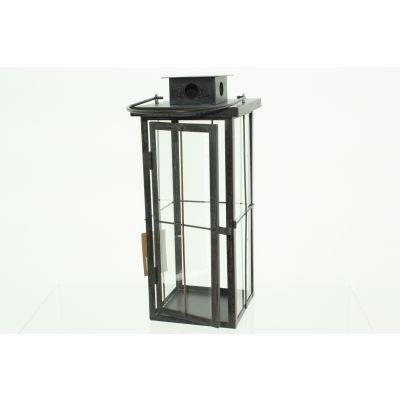 Metall-Laterne 15 x 15 x 35 cm antik brass 111719