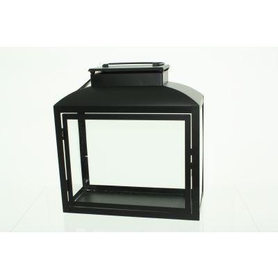 Metall-Laterne 30,5 x 14,5 x 31,5 cm schwarz 111724