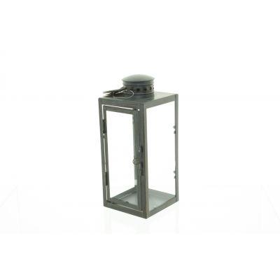 Metall-Laterne 10,2 x 10 x 23,5 cm antik brass 111730