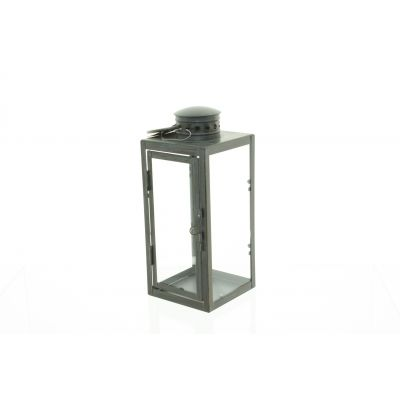 Metall-Laterne 15,3 x 15 x 45 cm antik brass 111732