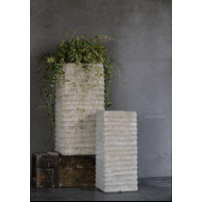 Keramik-Vase Rom eckig  33x68cm grau 114018