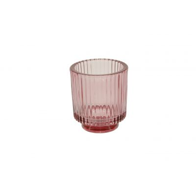 Glas-Votive 9 x 10 cm pink 115786