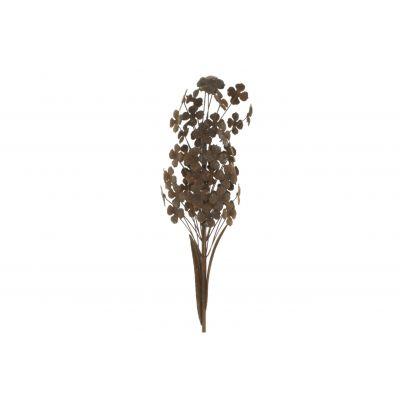 Metall-Blume am Stab 13 x 13 x 130 cm rost 115827