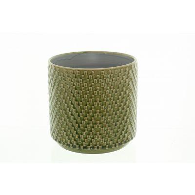 Keramik-Topf Dunedin 12 x 12 x 10,5 cm grün 116003