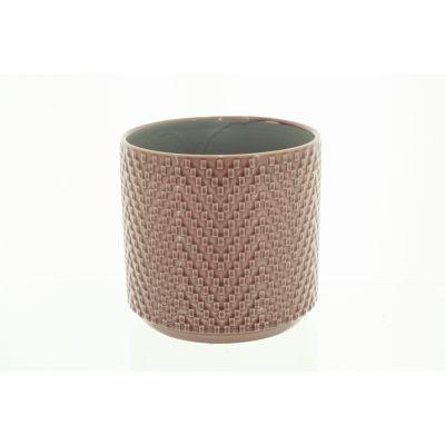 Keramik-Topf Dunedin 12 x 12 x 10,5 cm pink 116005