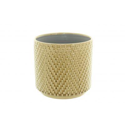 Keramik-Topf Dunedin 14 x 14 x 12,5 cm gelb 116006