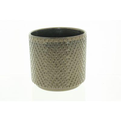 Keramik-Topf Dunedin 14 x 14 x 12,5 cm braun 116008