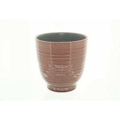 Keramik-Topf Tauranga 8 x 8 x 8 cm pink 116015