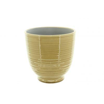 Keramik-Topf Tauranga 12 x 12 x 12 cm gelb 116016