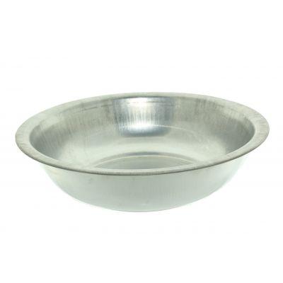 Metall-Schale 40x12 cm  natur matt 116114