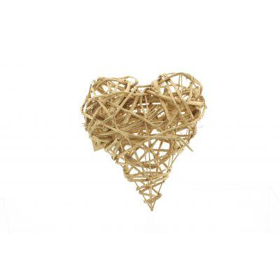 Reben-Herz  25 x 20 cm gold Weinrebe 116482