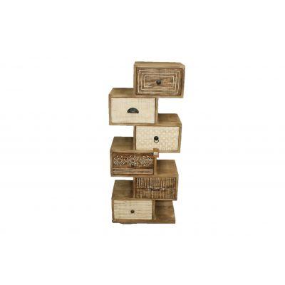 Holz-Schubladen-Schrank 50 x 30 x 121 cm 116647