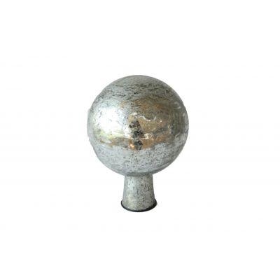 Rosenkugel 7,5 cm  foil silber 118099