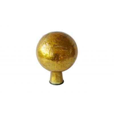 Rosenkugel 7,5 cm  foil gold 118100