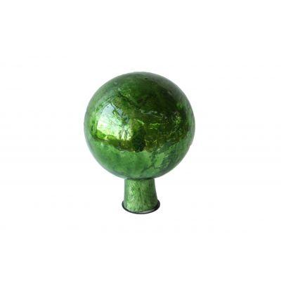 Rosenkugel 7,5 cm  foil grün 118101