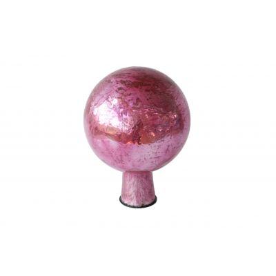 Rosenkugel 7,5 cm  foil pink 118105