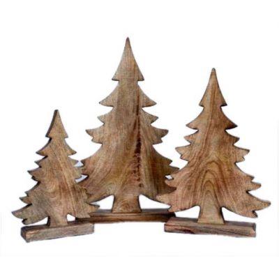Holz-Baum 31x24x6cm, natur 118136