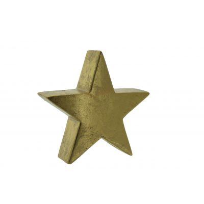 Keramik-Stern 19,2x6,5x19cm, gold 118564