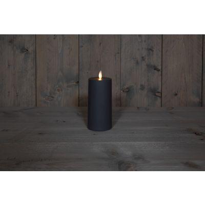 Kerze  Außen mit Timer 220/80 anthra mit Timer 6/18 Std. 119624