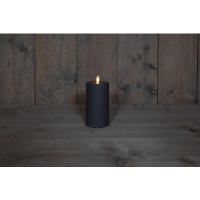 Kerze  Außen mit Timer 160/80 anthra mit Timer 6/18 Std. 119625