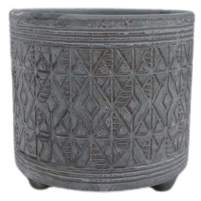 Keramik-Topf Murcia  12 x 12 x 11,3 cm waschbraun 2ass 119727