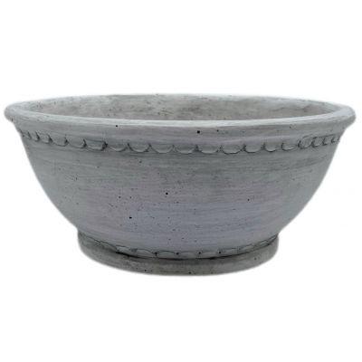 Zement-Schale Ovledo 26 x 26 x 11 cm weiss 119736