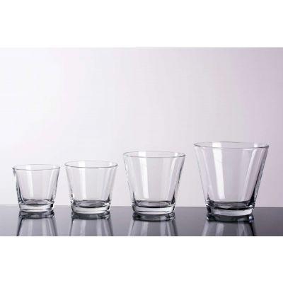 Glas konisch klar D 9 H 8cm 6/6/1 019600