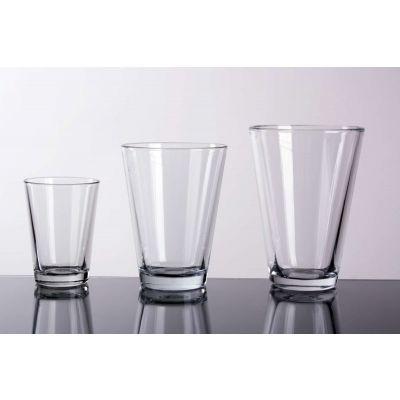 Glas konisch  Vase klar D 14cm H 18cm 066486