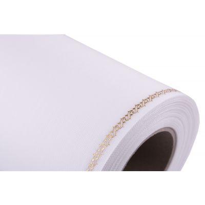 Kranzbd. Moire weiß/gold 175mm 25m 068928