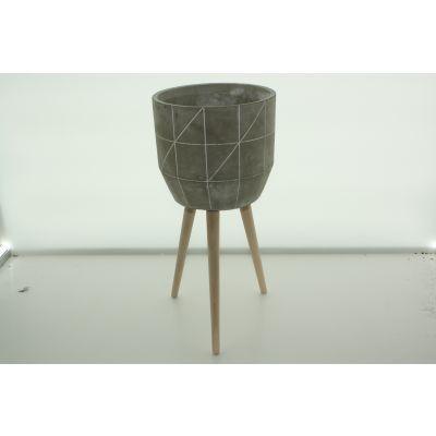 Zementtopf auf Ständer 24,5 x 24,5 x 53 cm 093995