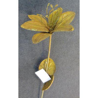 Metall-Blume am Stab 16,5 x 18,5 x 73 cm rost 094639