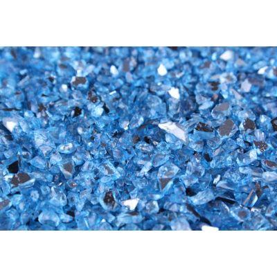 DEKO-GRANULAT  1-4 mm dkl.blau Spiegelglas 5,5 liter Eimer 010593