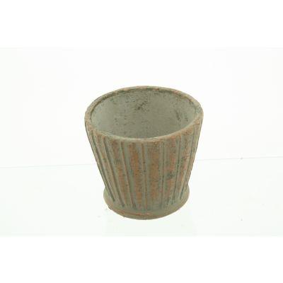 Zement-Topf Funchal 12 x 12 x11 cm ku/schw 110609