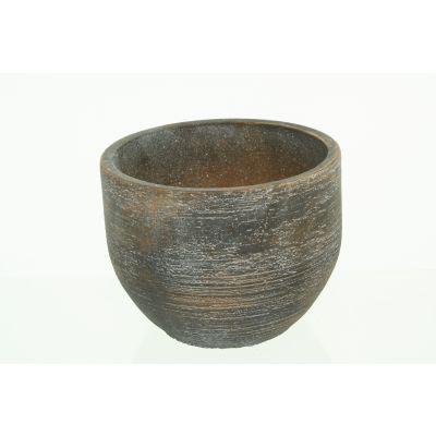 Zement-Topf Sintra 18 x 18 x 14 cm sand dkl-r 110612