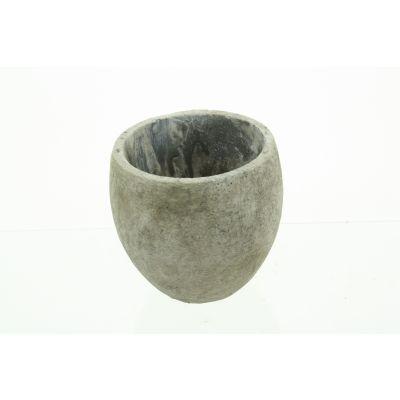 Zement-Topf Lissabon 16,5 x 16,5 x 16 cm antik  weiss 110618