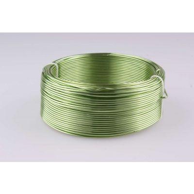 Aluminium-Draht 2mm hellgrün 60 Meter 017301