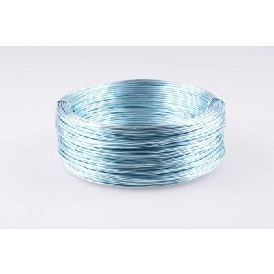 Aluminium-Draht 2mm eisblau 60m 017852