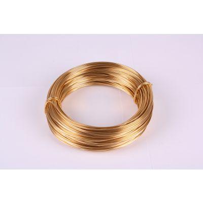 Aluminium-Draht 2mm hellgold 60 Meter 029090